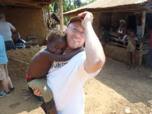 A little friend I made while  providing medical relief in a remote village in Sierra Leone