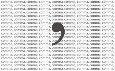 many commas