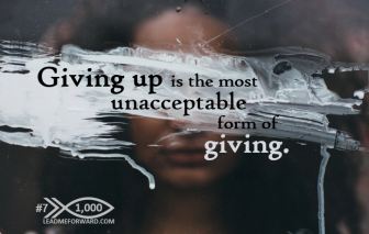 1000 Tips 7 giving up giving