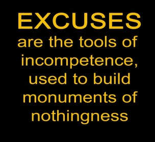 excuses monument of nothingness