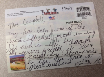 Alex Szymanski post card