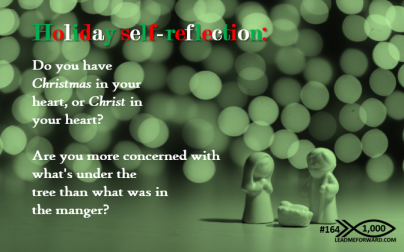 1000 Tips 164 holiday self reflection